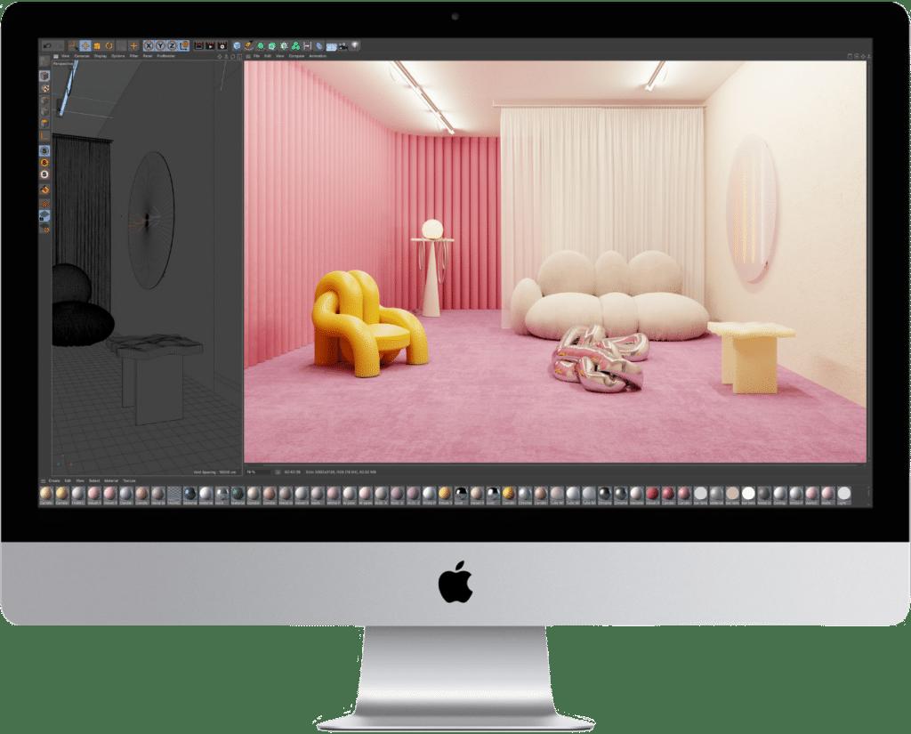 mockup of an iMac